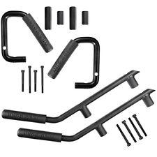 4×Steel Front Rear Grab Handles Bar Grabars For 07-17 Jeep Wrangler JK Unlimited