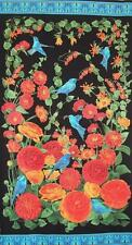 Arcadia Ranunculus Flower Bluebird Floral Timeless Treasures Fabric Panel