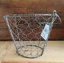 Chicken Wire EGG BASKET ~ Rustic Primitive Farmhouse Chicken Wire Basket