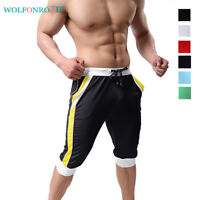 Breathable Mens Mesh Shorts Casual Jogger Shorts Sports Pants Gym Workout Trunks