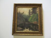 ANTIQUE 19TH CENTURY EARLY CALIFORNIA PLEIN AIR LANDSCAPE PAINTING SMALL GEM OLD