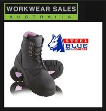Steelblue Argyle Ladies Womens Work Safety Boots Wheat & Purple