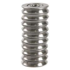 10pcs 5225mm Metal 15mm Deep V Groove Guide Pulley Rail Ball Bearings Wheel