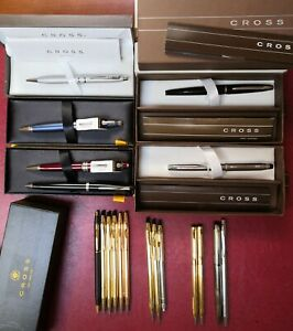19 Cross fountain ATX Century ballpoint Century gold Bailey Calais Stratford