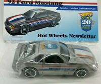 Hot Wheels custom 92 Ford Mustang 20th Nationals Newsletter VHTF, only 850 made