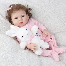 "18"" Full Body Silicone Reborn Baby Dolls Lifelike Bathing Girl Doll Gifts Toys"