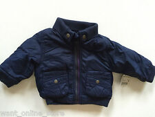 Bnwt Zar 00004000 a Baby Winter Padded Lined Jacket Coat 3-6 Months (68cm) Navy Blue