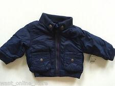BNWT Zara Baby Winter Padded Lined Jacket Coat 3-6 Months (68cm) Navy Blue