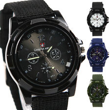 New Black Sport Style Military Army Pilot Fabric Strap Sports Men Watch Gifts