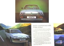 Opel Manta B GT/J Berlinetta SR 400 1981-82 Original UK Sales Brochure No. GM003