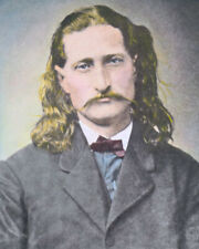 "JAMES BUTLER ""WILD BILL"" HICKOCK WESTERN HERO 8x10"" HAND COLOR TINTED PHOTO"