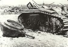 WWII French Panzer Tank- Destroyed Char B1 Heavy Tank- Private Archive Photo