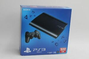 SONY PlayStation 3 PS3 Ultra Slim Charcoal Black Games Console 500GB NEW