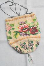 alte Perlentasche Perlenbeutel Perlenstickerei Glasperlen Handarbeit