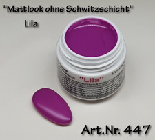 "5 ml UV Farbgel ""Mattlook"" Lila, ohne Schwitzschicht, matt,  Nr. 447"
