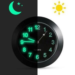 Mini Car Luminous Auto Air Vent Clip Clock Interior Quartz Analog Watch Decor