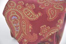 ROBERT TALBOTT Best of Class Red Blue Paisley Handsewn Silk Tie Made in USA