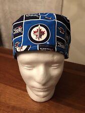 Winnipeg Jets Men's Surgical Scrub Hat - Skull Cap
