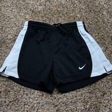 Nike Shorts Size Large Kids Youth Girls Black White Drawstring