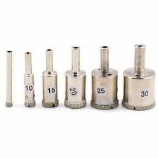 6Pcs 5 10 15 20 25 30 mm Diamond Drill Bit Coated Hole Saw Cutter Glass Ceramic
