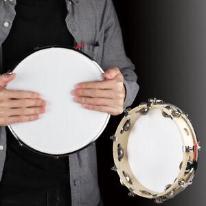 "10"" Tambourine Capoeira Pandeiro Samba Percussion Wood Maracas Hand Percussion"