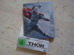 THOR THE DARK WORLD 3D BR + Blu-Ray SteelBook + MINIATURE EASEL Chris Hemsworth