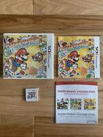 Paper Mario: Sticker Star (Nintendo 3DS) Complete in Box (CIB) Authentic Tested