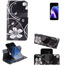 BQ Aquaris U2 Lite Cartera Flip Case 360° Wallet Cover funda bolsa