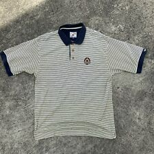 Vintage Cutter And Buck 1997 US OPEN Mens XL Striped Polo Embroidered Logo 90's