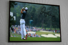 "RORY MCILROY Golf 17""x13"" Framed Canvas Tribute Print Signed ""Great Gift"""