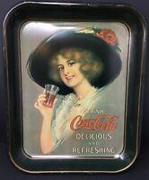 Coca Cola Coke 1972 Commemorative Metal Tray Hamilton King Girl 1912