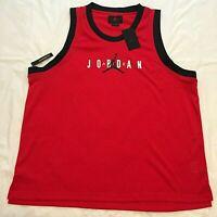 NIKE AIR JORDAN Basketball Men's Jersey Tank red black XXL 2XL New w/ TAGS $50
