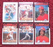 1986 Topps St Louis Cardinals Baseball Team Set (33 Cards) ~ Ozzie Smith COLEMAN
