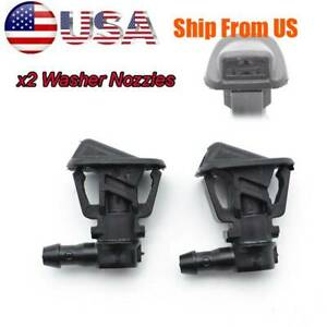 For Jeep Wrangler JK 2013-2017 Pair Front Windshield Wiper Washer Nozzle Spray