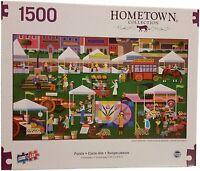 "Hometown Collection Farmer's Market - 1500 Piece Jigsaw Puzzle (37"" x 21.62"")"
