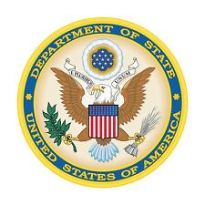 Department of State Sticker United States Seal