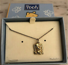 VINTAGE DISNEY GOLD PLATE / Sterling Silver Winnie the Pooh CHARM W CHAIN #2