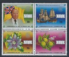 1983 NIUE COMMONWEALTH DAY BLOCK OF 4 FINE MINT MUH/MNH