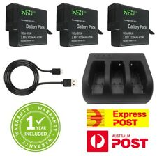 HSU Hero 6 Battery Charger USB Kit GoPro Hero6 Go Pro with 3 x 1220mAh Batteries