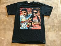 DRAKE VS LIL WAYNE Hip Hop Rap Tee Black Graphic 2014 Tour T-Shirt Adult Size S