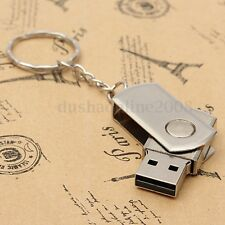 64 G GO GB USB 2.0 CLE Métal KEY Mémoire Flash Drive Key Chain Stick Win 7/10 PC