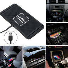 Qi Wireless Car Fast Charger Phone Dock Non-Slip Mounting Pad for iPhone Samsung