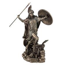 "10.25"" Athena w/ Javelin Greek Goddess of Wisdom & War Sculpture Statue Owl"