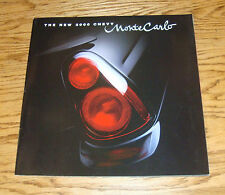 Original 2000 Chevrolet Monte Carlo Deluxe Sales Brochure 00 Chevy