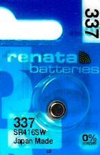 337 RENATA SR416SW SR416 337 WATCH BATTERIES New Authorized Seller