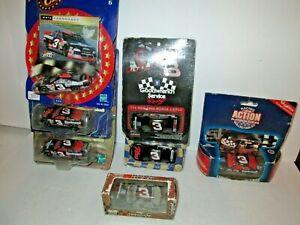 1 Lot of 7 Die Cast Dale Earnhardt #3 NASCAR Cars, 1:64 Scale