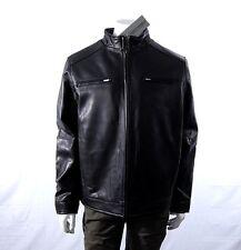 NWT Boston Harbour Men's Leather Jacket Black MEDIUM 1052933 Full-Zip Lined NEW