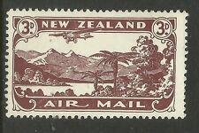 NEW ZEALAND 1931 AIRMAIL 3d CHOCOLATE 1v MINT