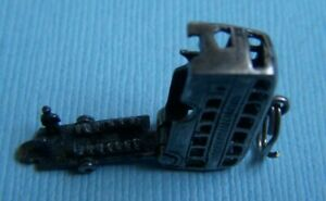 Vintage movable double decker bus London England sterling charm