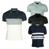 French Connection Mens Polo Shirts Short Sleeve Stripped Casual Summer Tee Shirt